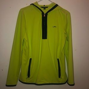 Lime Green And Black Sports Sweatshirt